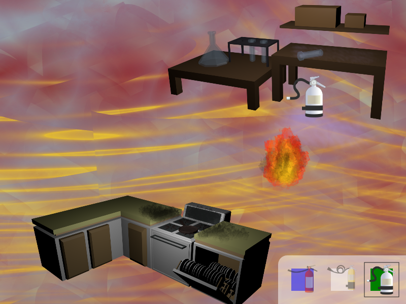 A screenshot from the finished Training Jam game.